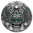2021 Niue 2 oz Silver Antique Crystal Scarabaeus