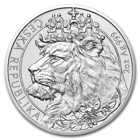 2021 Niue 2 oz Silver Czech Lion BU
