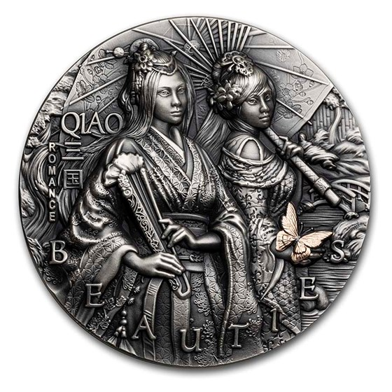 2021 Niue 2 oz Silver Three Kingdoms Romance: Qiao Sisters