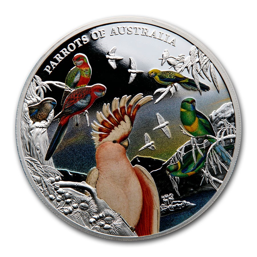 2021 Niue 5 oz Silver Proof Parrots of Australia