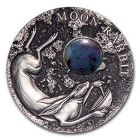 2021 Niue Antique Silver Moon Rabbit