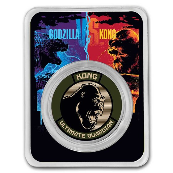 2021 Niue Colorized 1 oz Silver $2 Kong Coin (w/TEP)