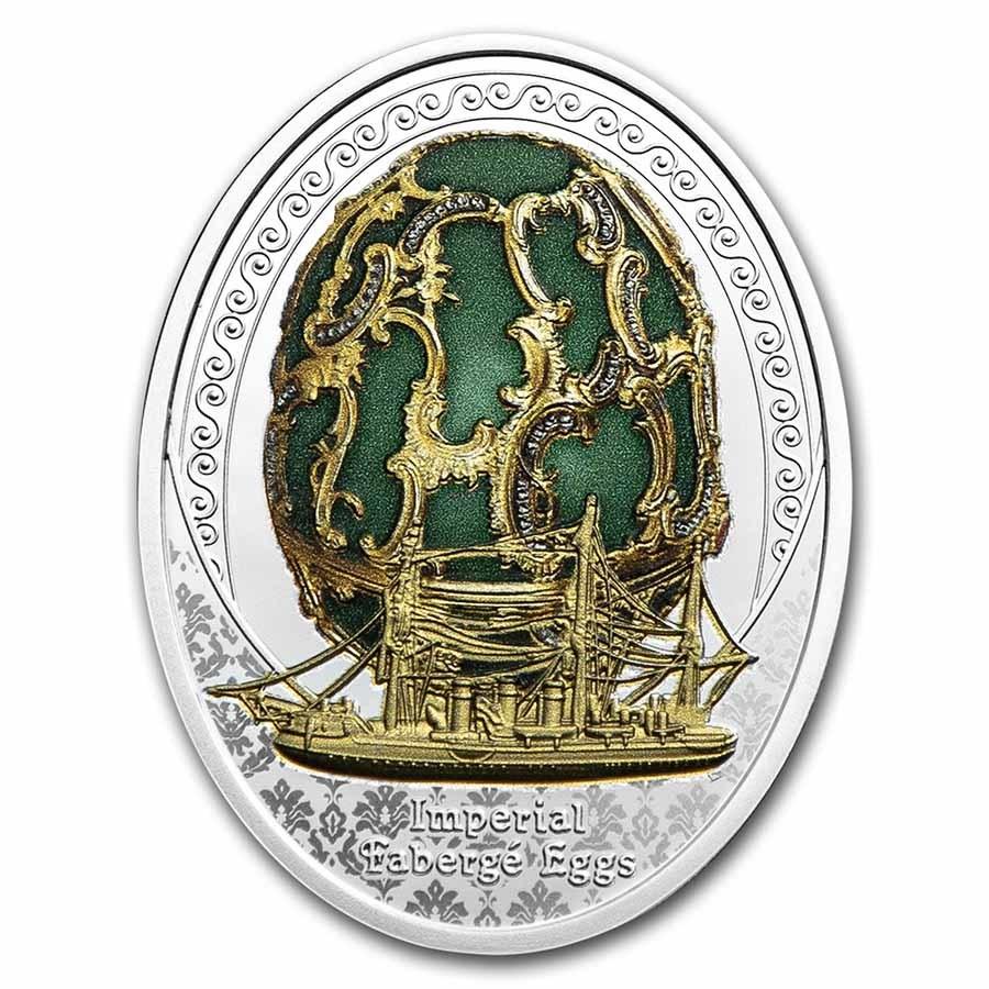 2021 Niue Silver Fabergé Eggs The Memory of Azov Egg