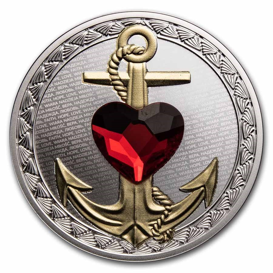 2021 Niue Silver Faith, Hope, Love Proof