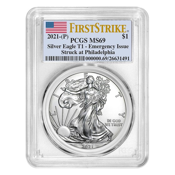 2021 (P) American Silver Eagle MS-69 PCGS (FirstStrike)