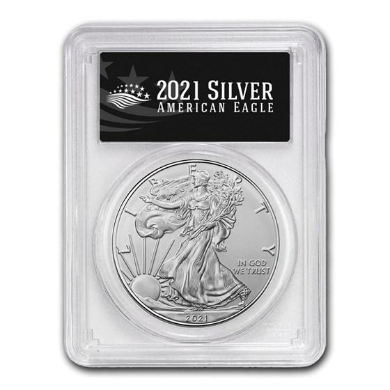 2021 (P) American Silver Eagle MS-69 PCGS (FS, Black Label)