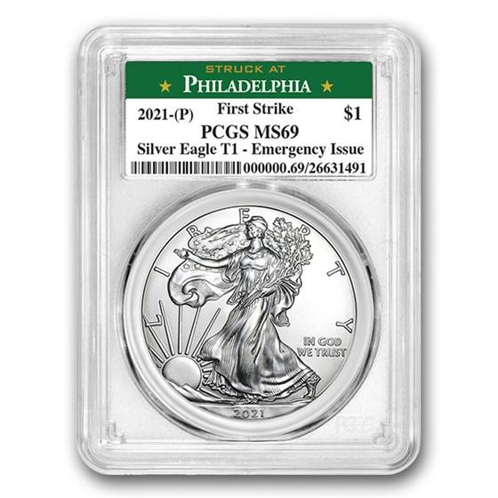 2021 (P) American Silver Eagle MS-69 PCGS (FS, Philadelphia)