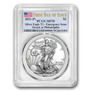 2021-(P) American Silver Eagle MS-70 PCGS (First Day of Issue)