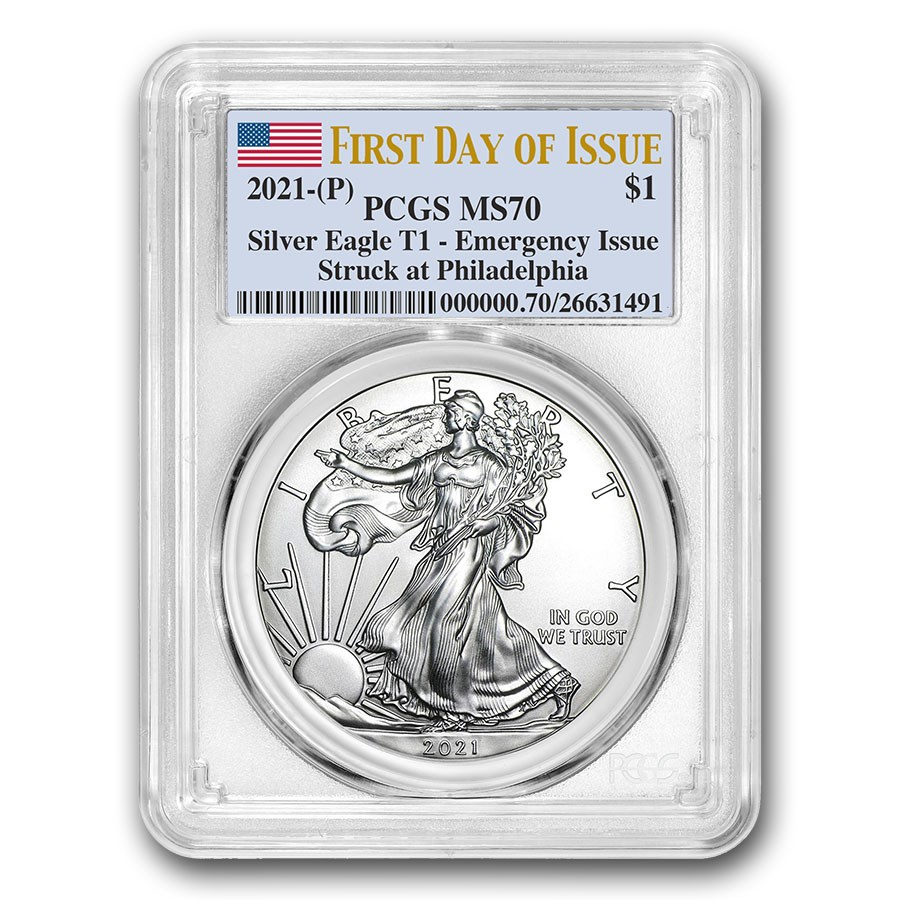 2021 (P) American Silver Eagle MS-70 PCGS (First Day of Issue)