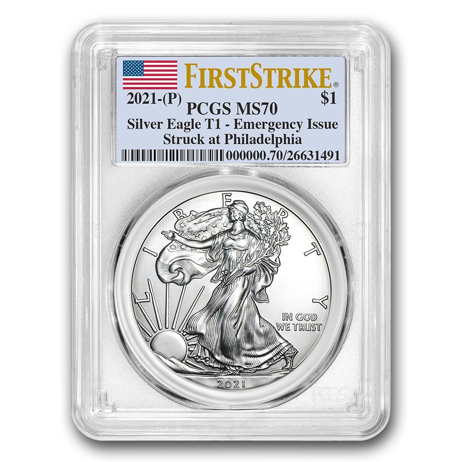 2021 (P) American Silver Eagle MS-70 PCGS (FirstStrike)