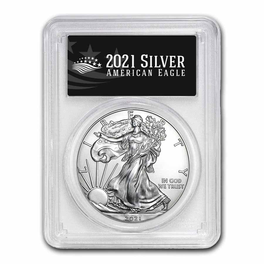 2021 (P) American Silver Eagle MS-70 PCGS (FS, Black Label)
