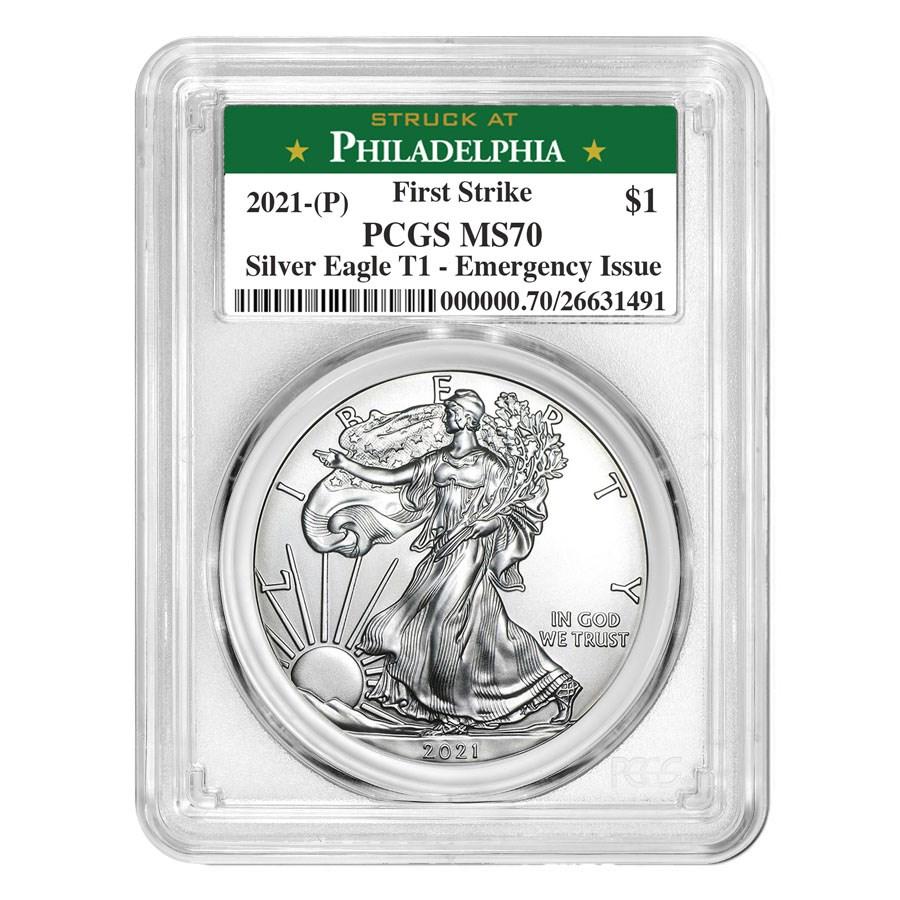 2021 (P) American Silver Eagle MS-70 PCGS (FS, Philadelphia)