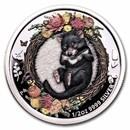 2021-P AUS 1/2 oz Silver Dreaming Down Under Tasmanian Devil Prf