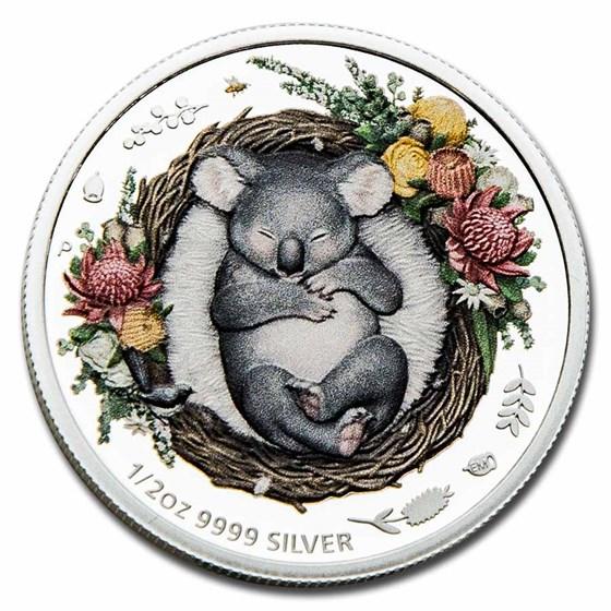 2021-P Australia 1/2 oz Silver Dreaming Down Under Koala Proof