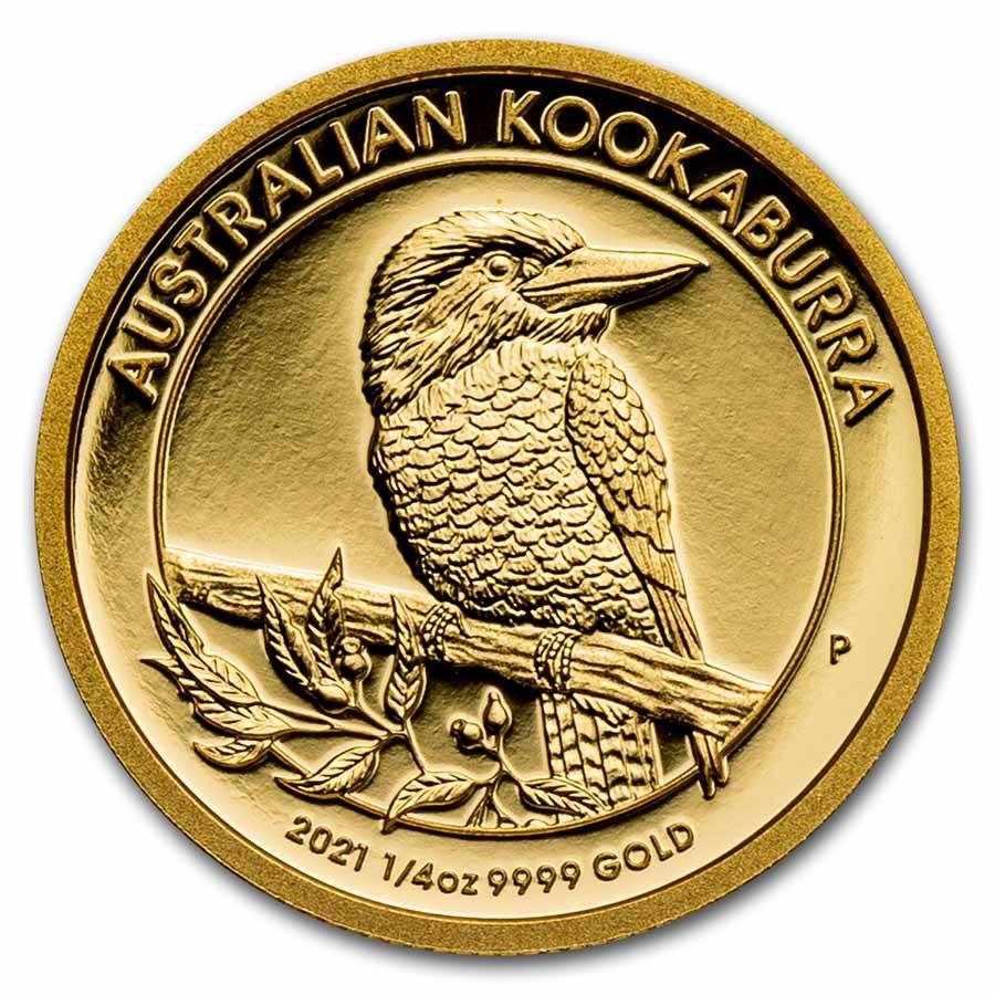 2021-P Australia 1/4 oz Gold Kookaburra Proof