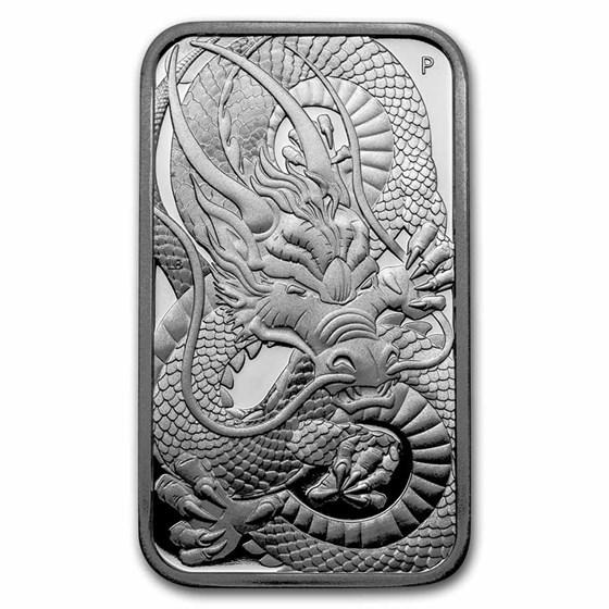 2021-P Australia 1 oz Silver Dragon Proof