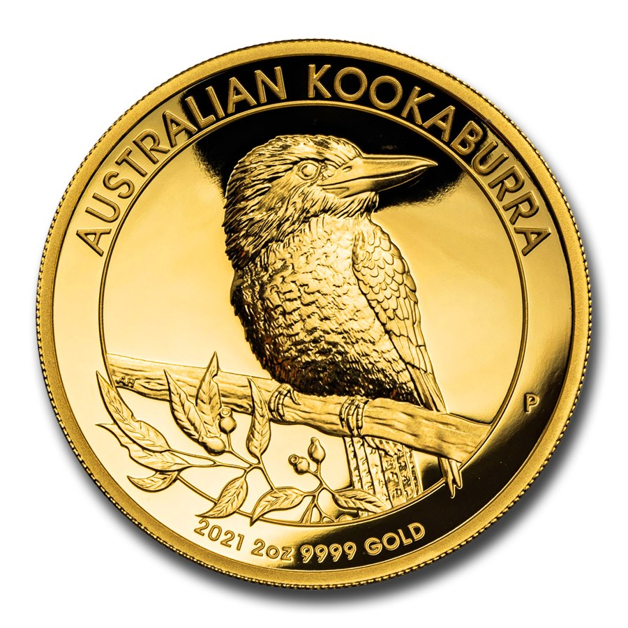 2021-P Australia 2 oz Gold Kookaburra Proof (High Relief)