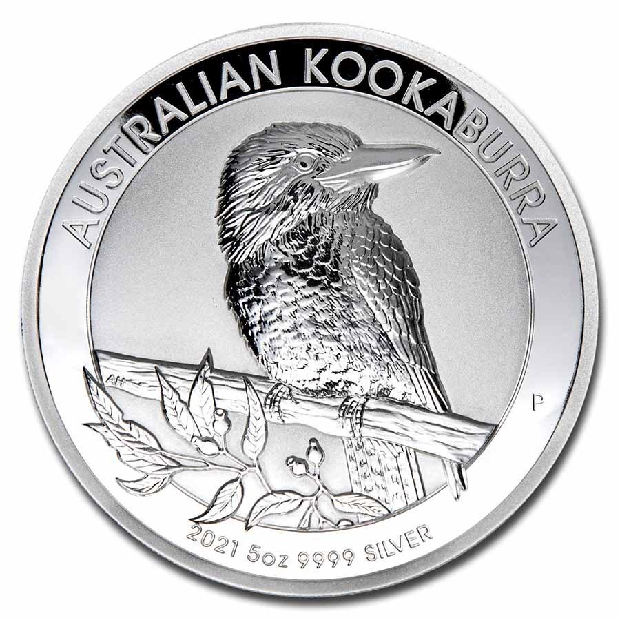 2021-P Australia 5 oz Silver Incused Australian Kookaburra Proof
