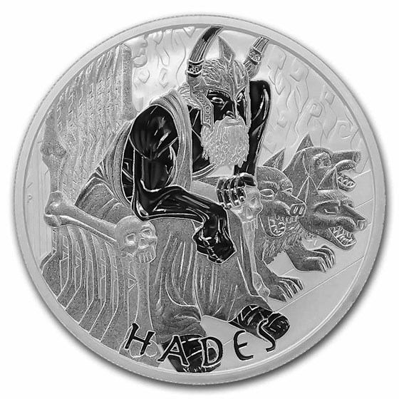 2021-P Tuvalu 5 oz Silver Gods of Olympus BU (Hades)