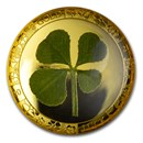 2021 Palau 1 gram Gold $1 Four-Leaf Clover