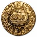 2021 Palau 1 oz Silver $5 Domed Inca Sun God (Gilded Gold)