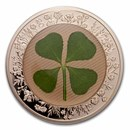 2021 Palau 1 oz Silver $5 Four-Leaf Clover Ounce of Luck Proof