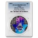 2021 Palau 1 oz Silver $5 Hands of Hamsa PR-69 PCGS (FDI)