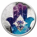 2021 Palau 1 oz Silver $5 Hands of Hamsa Proof