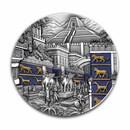 2021 Palau 2 oz Antique Silver Lost Civilization: Babylon