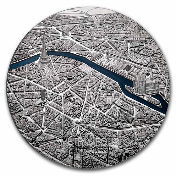 2021 Palau 3 oz Silver Tiffany Art Metropolis: Paris