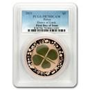 2021 Palau Ounce of Luck Silver $5 Four-Leaf Clover PR-70 PCGS FD