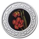 2021 RCM 1/4 oz Ag $3 Floral Emblems: Newfoundland Pitcher Plant
