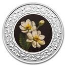 2021 RCM 1/4 oz Ag $3 Floral Emblems: NW Territ. Mountain Avens