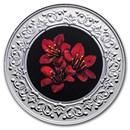 2021 RCM 1/4 oz Ag $3 Floral Emblems: Purple Saxifrage