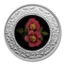2021 RCM 1/4 oz Silver $3 Floral Emblems: Alberta: Wild Rose