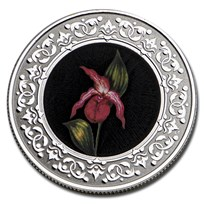 2021 RCM 1/4 oz Silver $3 Floral Emblems: PEI Lady's Slipper