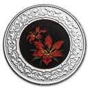 2021 RCM 1/4 oz Silver $3 Floral Emblems: Saskatchewan Red Lily