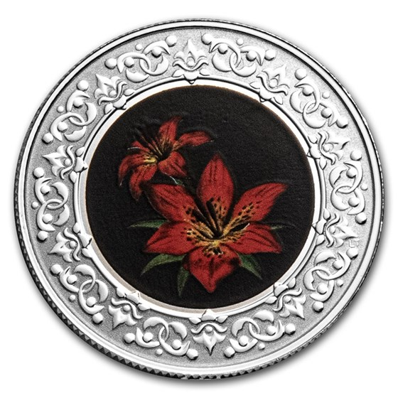 2021 RCM 1/4 oz Silver $3 Floral Emblems: Saskatchewan Red Lily