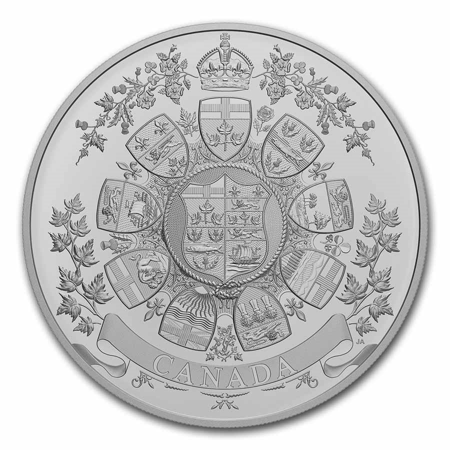2021 RCM 1 Kilo Ag $250 Archival Treasures: 1912 Heraldic Design