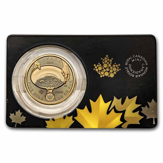2021 RCM 1 oz Gold Klondike Gold Rush .99999 BU (Damaged Assay)