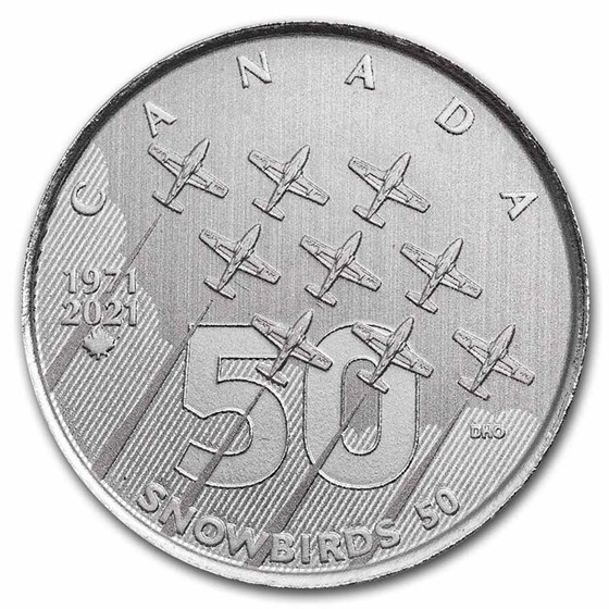 2021 RCM $5.00 Silver Moments to Hold: The Snowbirds