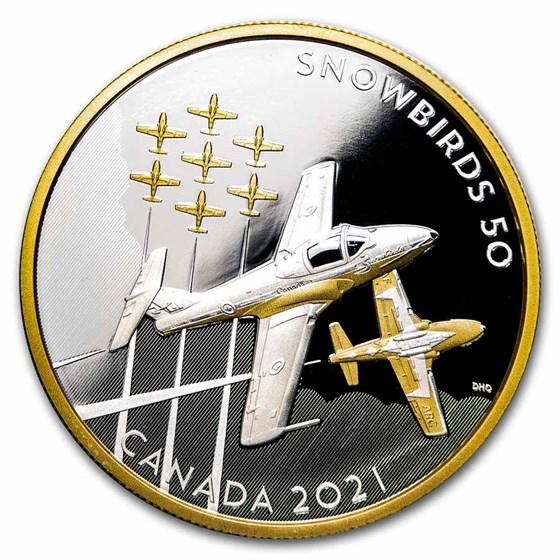 2021 RCM Silver $50 The Snowbirds: A Canadian Legacy