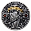 2021 Rep. of Cameroon 2 oz Antique Silver Christ The Savior