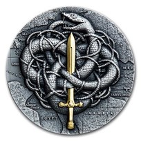 2021 Rep. of Cameroon 2 oz Antique Silver The Gordian Knot
