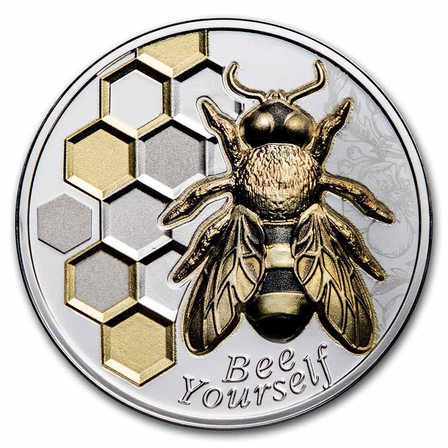 2021 Republic of Cameroon 1 oz Silver Bee Yourself
