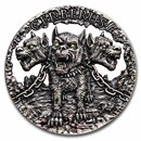 2021 Republic of Cameroon 2 oz Silver Mythical Creatures Cerberus