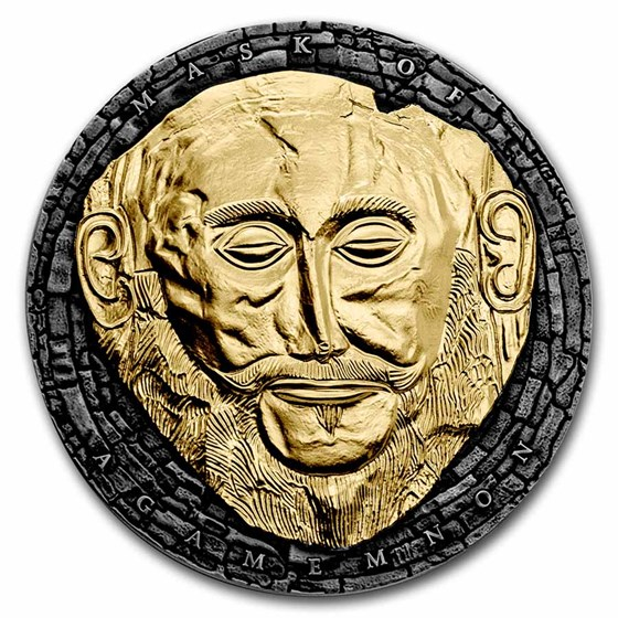 2021 Republic of Cameroon 3 oz Silver Mask of Agamemnon