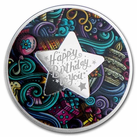 2021 Republic of Cameroon Silver Proof Happy Birthday