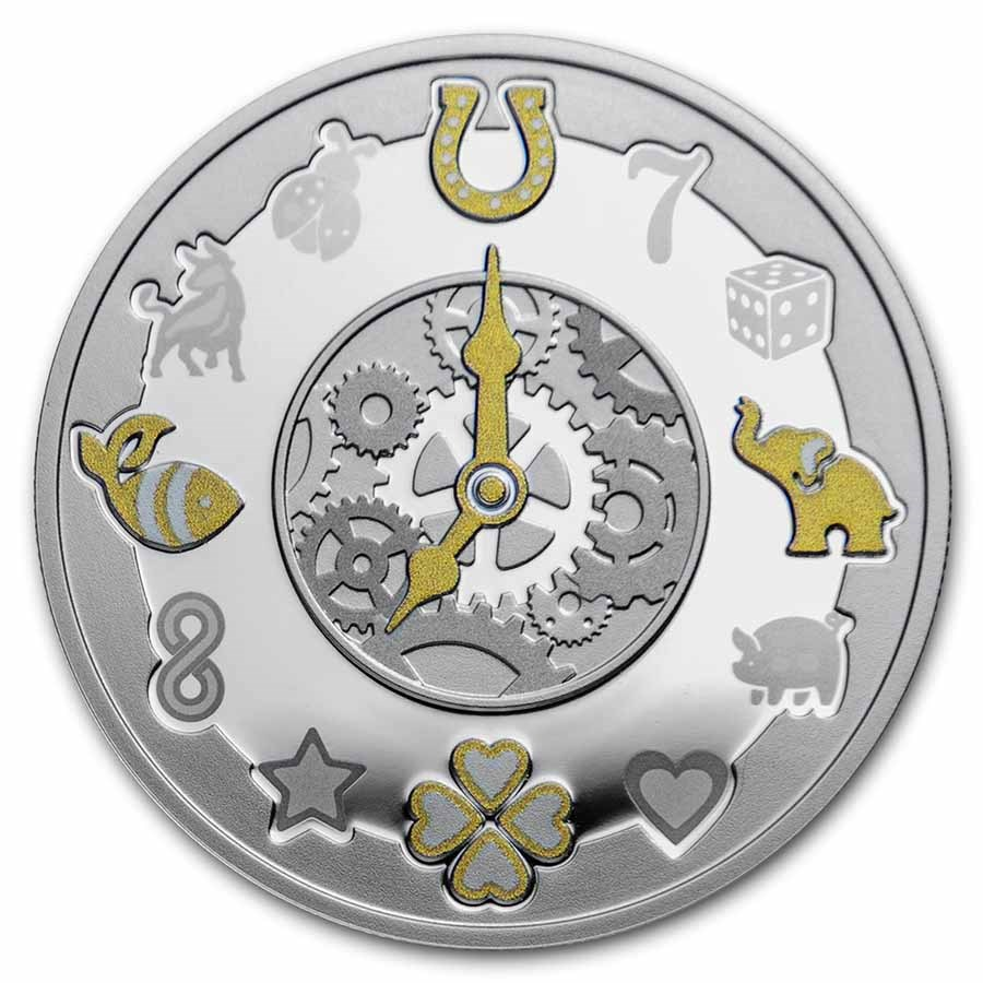 2021 Republic of Cameroon Silver Proof Lucky Hours Coin