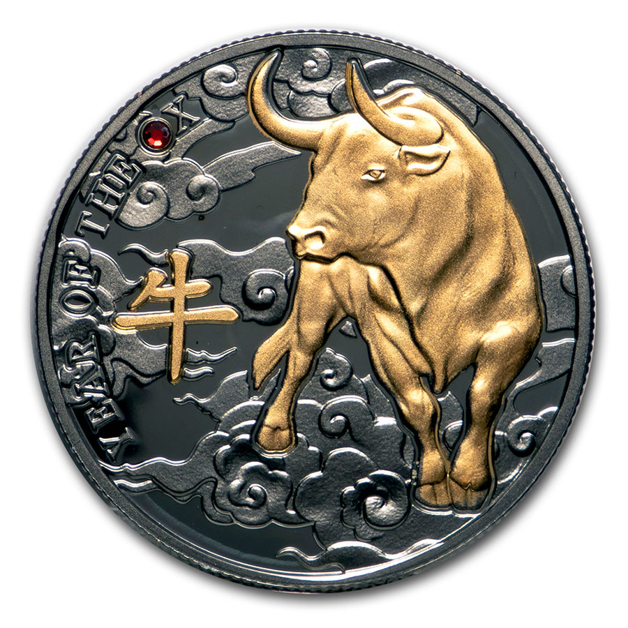 YEAR OF THE OX TIME TO WIN 2021 1 oz Pure Silver Proof Coin Cameroon